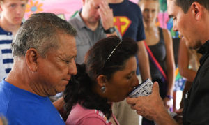 image - receiving communion - Mahahual Mexico