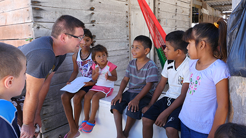 image - talking with children - Mahahual Mexico